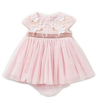 Rare Editions Baby Girls 3-24 Months Floral Lace Bodice Ballerina Dress
