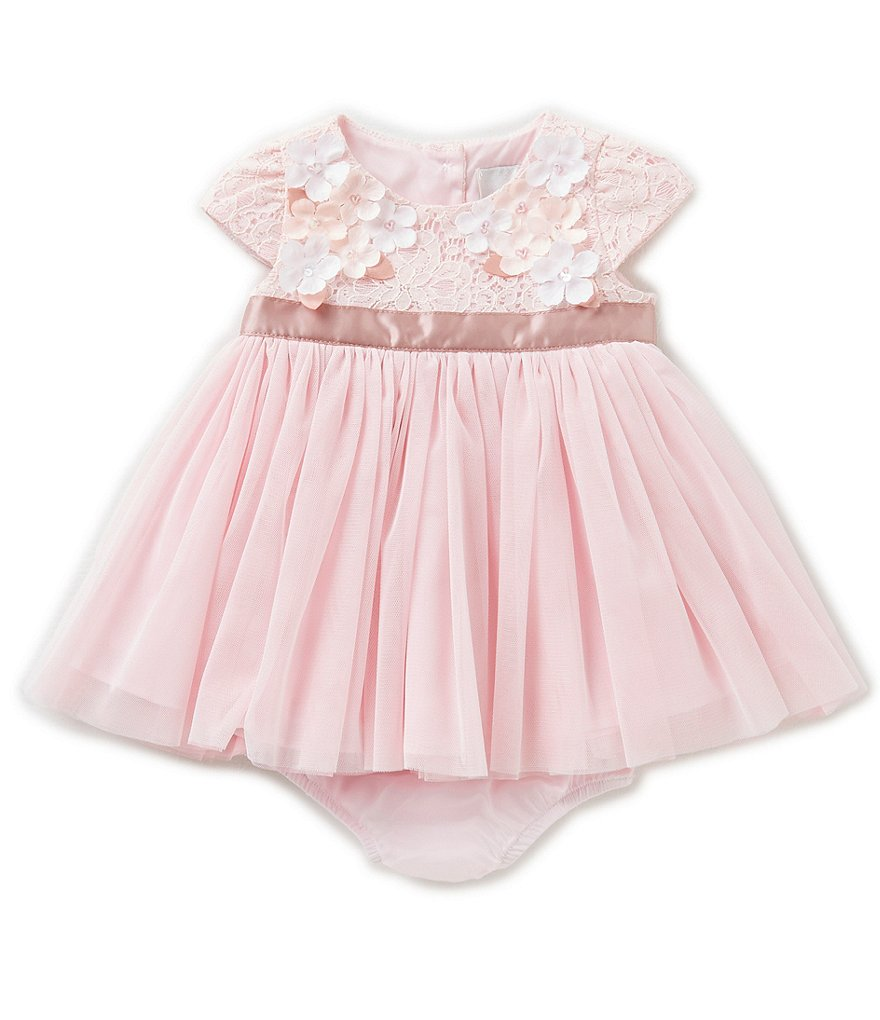 Rare Editions Baby Girls 3 24 Months Floral Lace Bodice