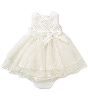 Rare Editions Baby Girls 12-24 Months Basketweave Tiered Dress