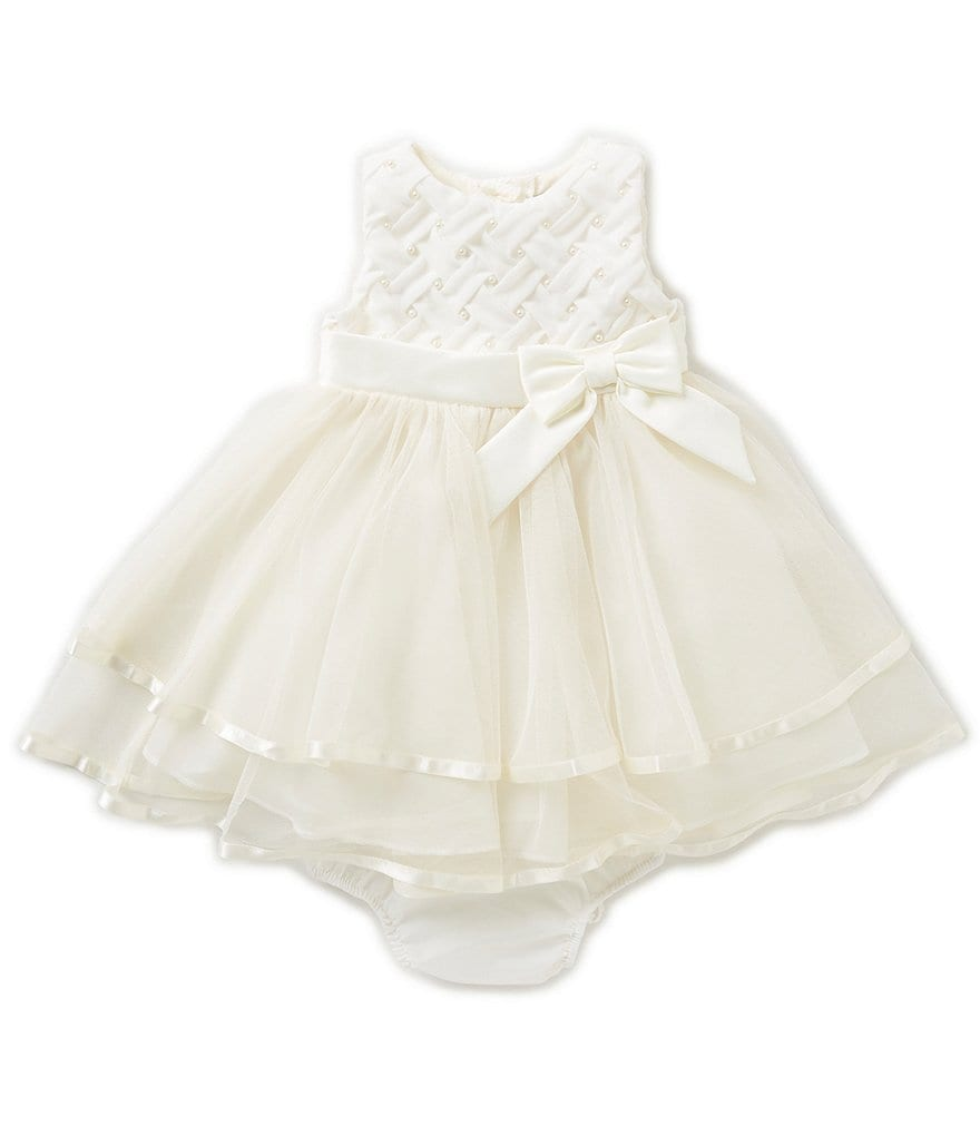 Rare Editions Baby Girls 12 24 Months Basketweave Tiered