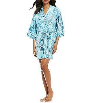In Bloom by Jonquil Sea Ridge Paisley Wrap Robe