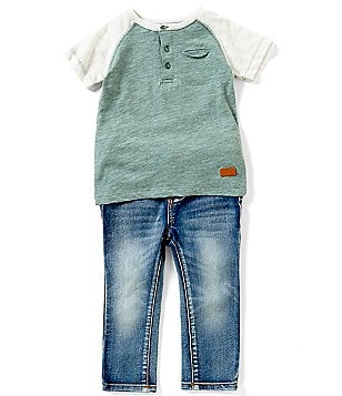 7 For All Mankind Baby Boys 12-24 Months Tee & Denim Jeans Set
