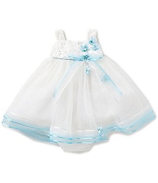 Chantilly Place Baby Girls 12-24 Months Floral-Appliquéd Lace-Bodice Social Dress