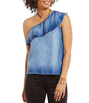 Chelsea & Violet Ruffled One Shoulder Top