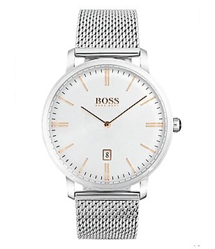 BOSS Hugo Boss Tradition Analog Mesh Bracelet Watch