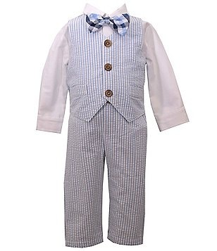 Matt´s Scooter Baby Boys Newborn-24 Months 4-Piece Seersucker Suit Set