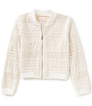 GB Girls Big Girls 7-16 Lace Bomber Jacket