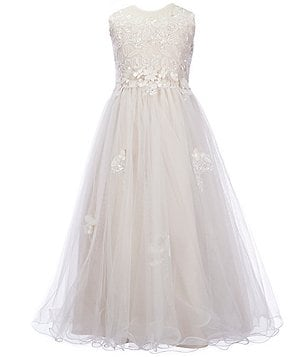 Joan Calabrese Big Girls 7-16 Beaded Lace & Tulle Dress