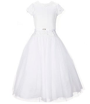 Joan Calabrese Big Girls 7-14 Beaded Lace-Applique Dress