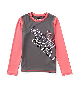 The North Face Big Girls 5-18 Long-Sleeve Color Block Hike/Water Tee