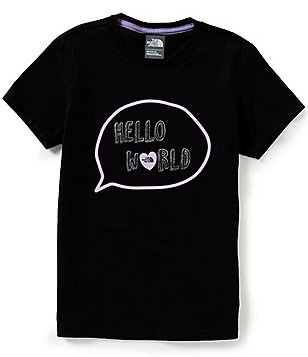 The North Face Big Girls 5-18 Hello World Short-Sleeve Tee