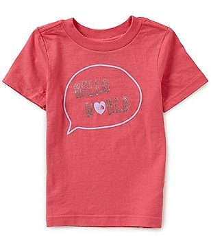 The North Face Little Girls 2T-4T Hello World Short-Sleeve Tee