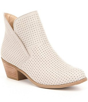 Adam Tucker by Me Too Zinnia Perforated Nubuck Tulip Topline Booties