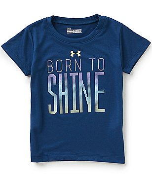 Under Armour Little Girls 2T-6X Born To Shine Short-Sleeve Tee