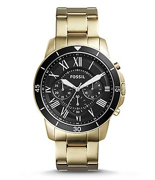 Fossil Grant Sport Chronograph Stainless Steel Bracelet Watch