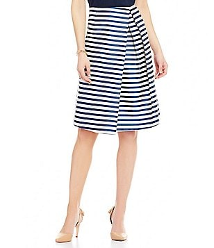 Antonio Melani Cecily Stripe Novelty Skirt