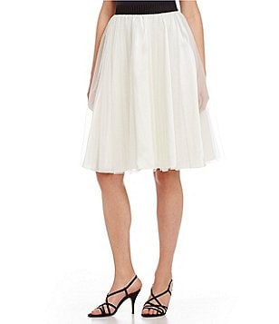 Marina Shirring A-Line Tulle Skirt