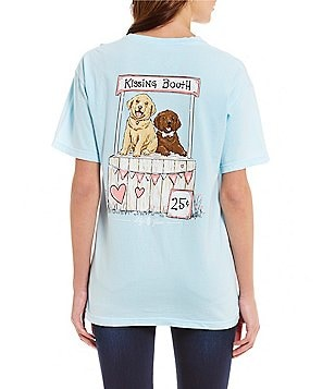 Lily Grace Kissing Booth Puppies Short-Sleeve Graphic Tee