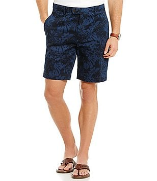 Cremieux Newport Overdye Printed Flat-Front Shorts