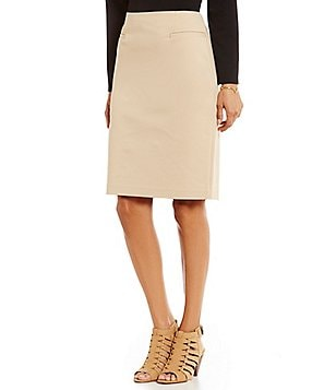 Vince Camuto Back Zip Solid Pencil Skirt