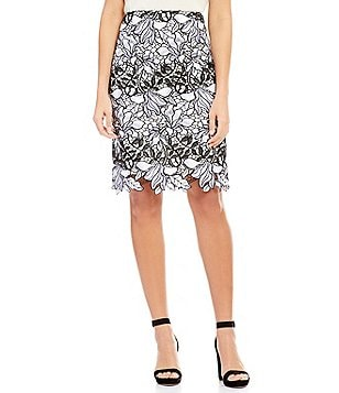 Antonio Melani Hermia Chemical Lace Pencil Skirt