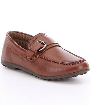 Steve Madden Boy´s Strappr Leather Buckle Detail Slip-On Driver