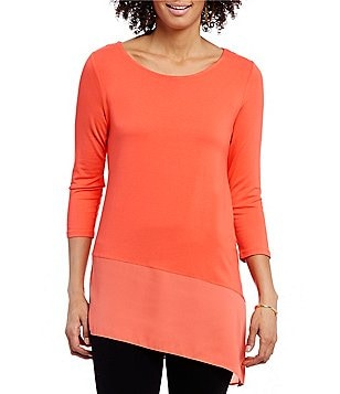 Vince Camuto 3/4 Sleeve Asymmetrical Top