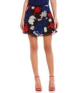 devlin Bailey Floral Embroidered Skirt