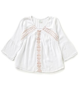 O´Neill Big Girls 7-16 Megan Embroidered Woven Top