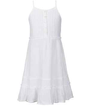 O´Neill Big Girls 7-16 Mandie Woven Ruffled Tank Dress