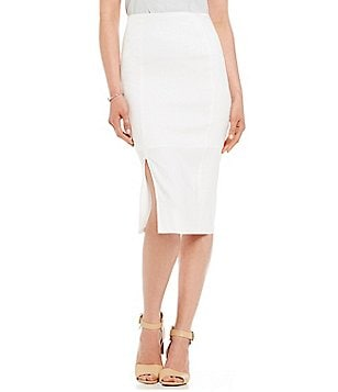 Antonio Melani Nicole Stretch Linen Pencil Skirt