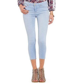Celebrity Pink Mid-Rise Cropped Jeans