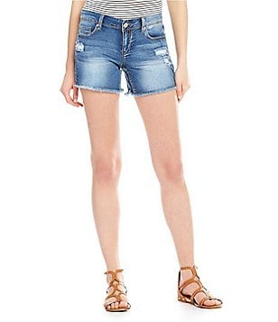 YMI Jeanswear Luxe Distressed Raw Hem Shorts