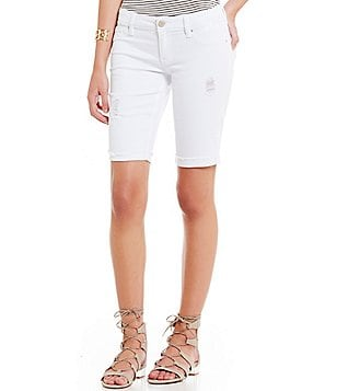 YMI Jeanswear Luxe Distressed Raw Hem Bermuda Shorts
