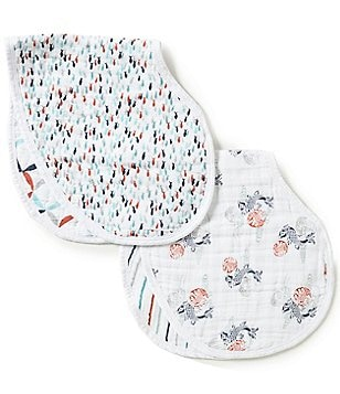 Aden + Anais Baby Boys Tea Fish Pond 2-Pack Muslin Bibs