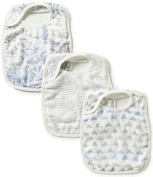 Aden + Anais Baby Boys Blue Moon 3-Pack Silky Soft Bibs