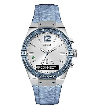 Guess Connected Leather-Strap Smart Watch