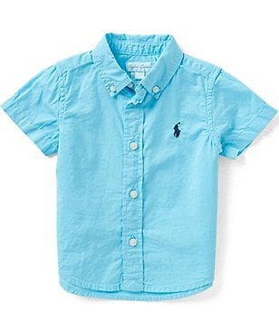 Ralph Lauren Childrenswear Baby Boys 6-24 Months Solid Short-Sleeve Twill Shirt