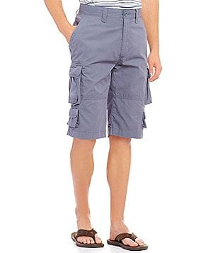 Roundtree & Yorke 9-Pocket Lightweight Twill Cargo Shorts