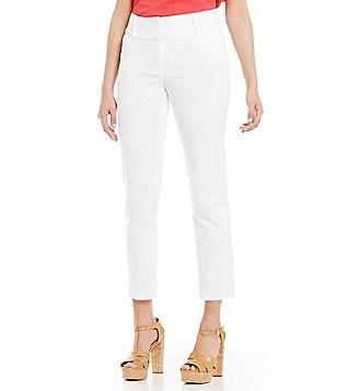 Gibson & Latimer White Stretch Slim Pant