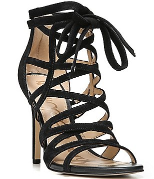 Sam Edelman Alba Suede Banded Tassel Detail Stiletto Dress Sandals