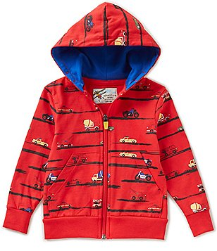 Adventure Wear by Class Club Little Boys 2T-7 Car PrInted Hoodie