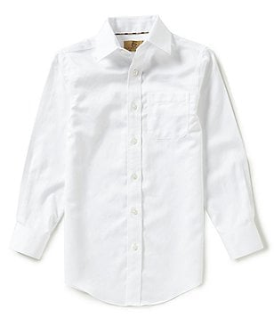 Class Club Gold Label Big Boys 8-20 Herringbone Shirt