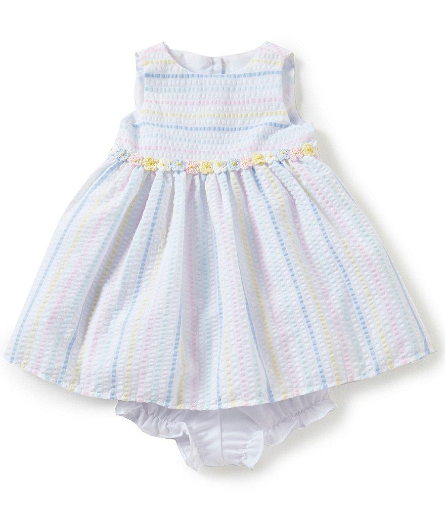 Marmellata Baby Girls Newborn 24 Months Striped Seersucker