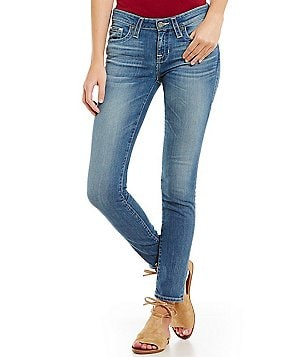 Big Star Alex Whiskered Faded Stretch Skinny Jeans