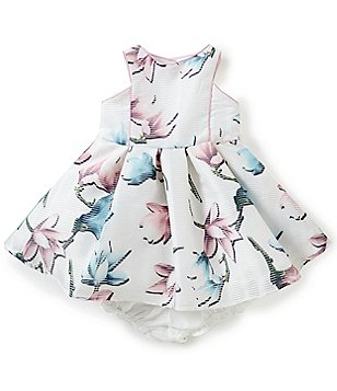 Pippa & Julie Baby Girls 12-24 Months Burnout Floral Printed Dress
