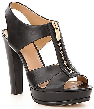 MICHAEL Michael Kors Bishop Leather Zip Platform Dress Sandals