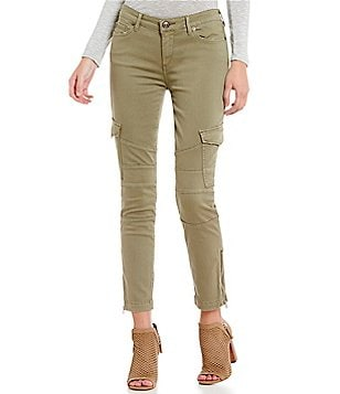 True Religion Halle Skinny Crop Cargo Pants