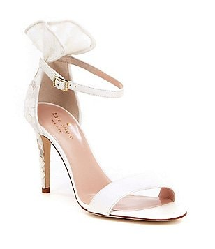 kate spade new york Iris Leather Ruffle Detail Banded Ankle Strap Dress Sandals