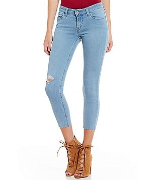 Levi´s® 535 Frayed Hem Cropped Stretch Super Skinny Jeans